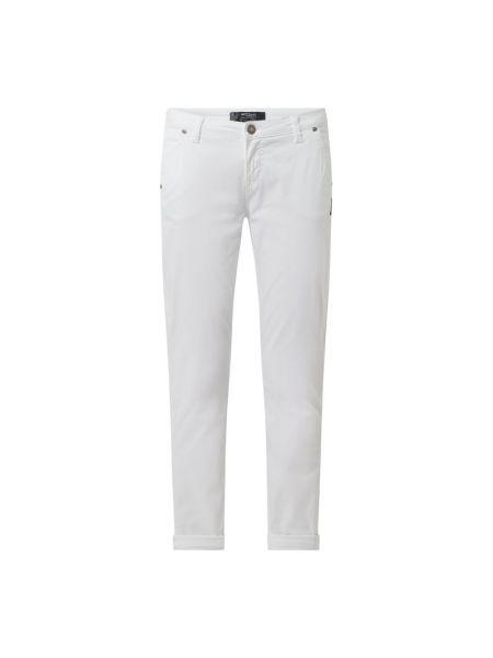 Białe jeansy bawełniane Silver Jeans