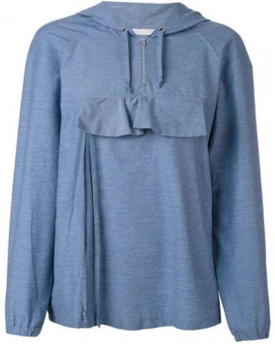 Синяя толстовка с карманами Peter Jensen