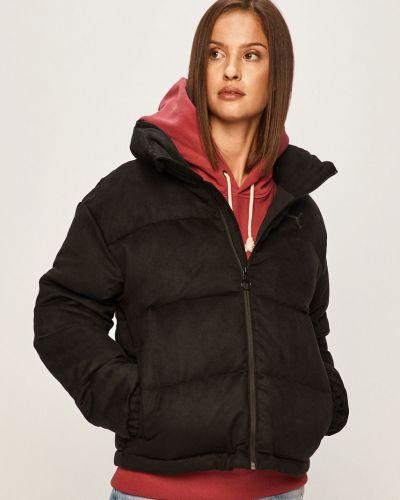 Прямая черная стеганая куртка Puma