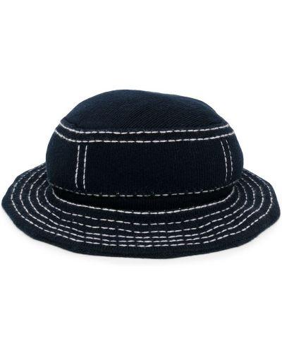 Ватная кашемировая синяя шляпа с широкими полями свободного кроя Barrie