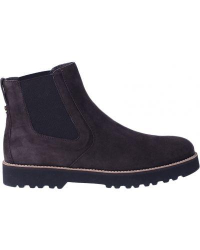 Кожаные ботинки - коричневые Hogan