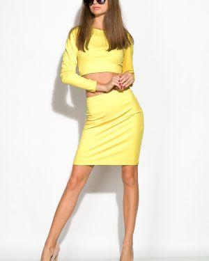 Приталенный костюм - желтый Time Of Style