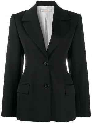 Однобортный приталенный черный удлиненный пиджак Nina Ricci