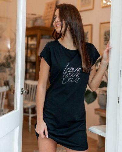 Рубашка с коротким рукавом - черная Sensis
