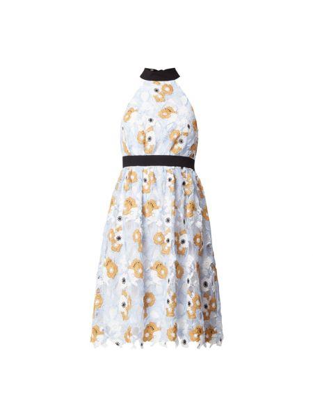 Sukienka koronkowa - niebieska Chi Chi London