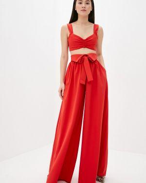 Красный облегающий костюмный брючный костюм Lipinskaya Brand