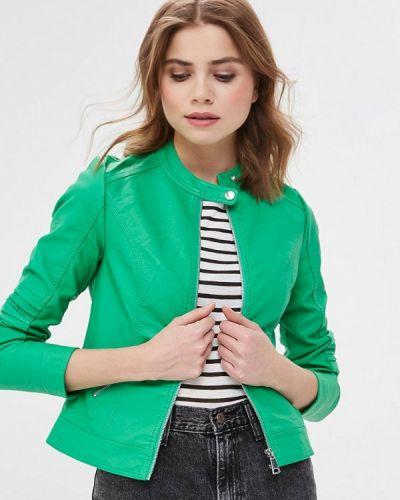 Кожаная куртка весенняя зеленый Z-design