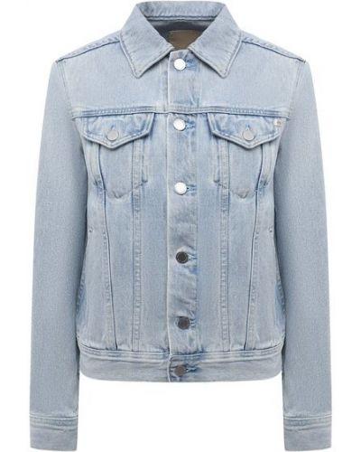 Голубая хлопковая куртка Ag