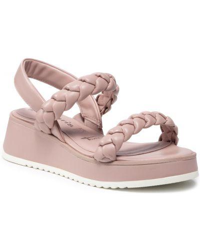 Sandały - różowe Tamaris
