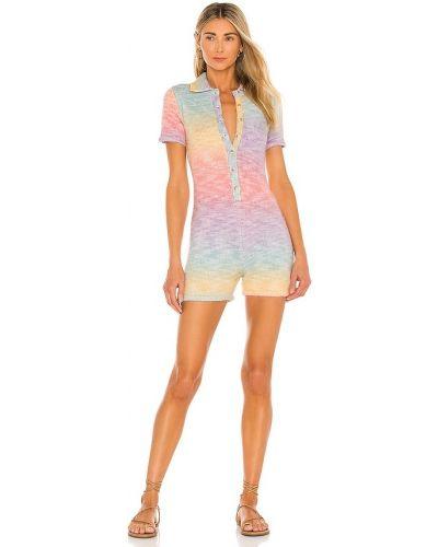 Пляжный шерстяной розовый ромпер Frankies Bikinis
