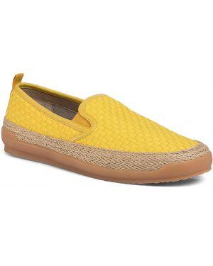 Żółte espadryle Geox