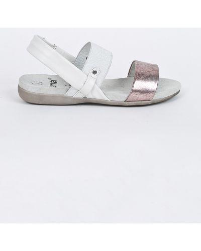 Белые сандалии текстильные Jana