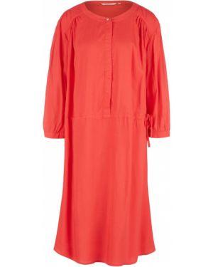 Платье из вискозы с рукавами Tom Tailor