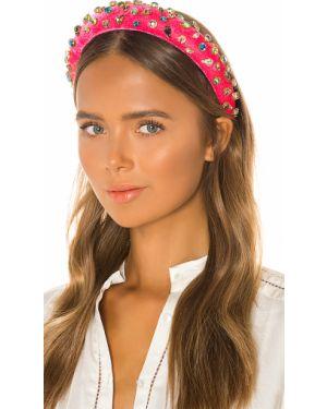 Różowy kapelusz srebrny Lele Sadoughi