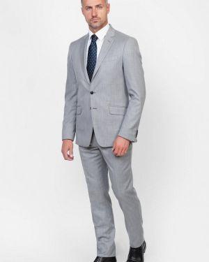 Костюмный серый костюм классический Arber