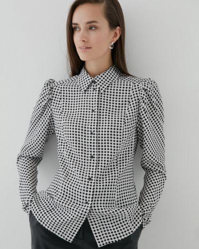 Черная блузка из вискозы Zarina