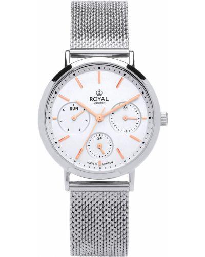 Водонепроницаемые часы кварцевые серые Royal London