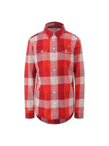 Облегченная красная хлопковая рубашка Harley Davidson
