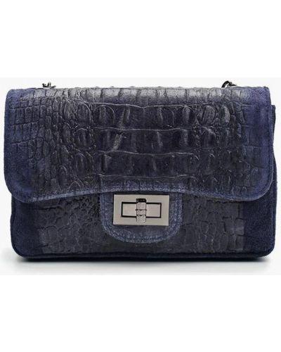 Синяя сумка из натуральной кожи Roberta Rossi