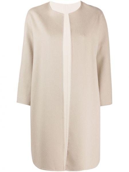Шерстяное пальто с капюшоном свободного кроя Manzoni 24