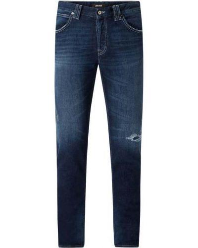 Niebieskie jeansy bawełniane Just Cavalli