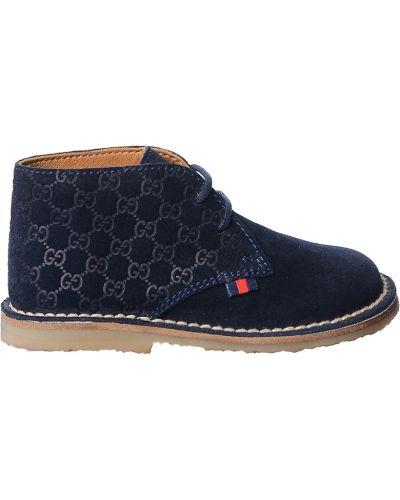 Ботинки замшевые Gucci