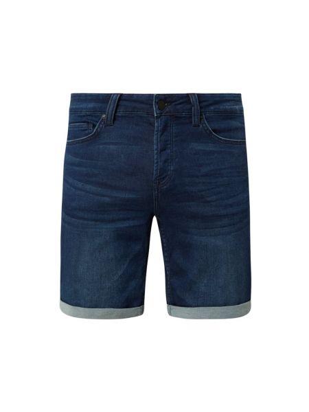 Bawełna bawełna niebieski dżinsowe szorty z paskami Only & Sons