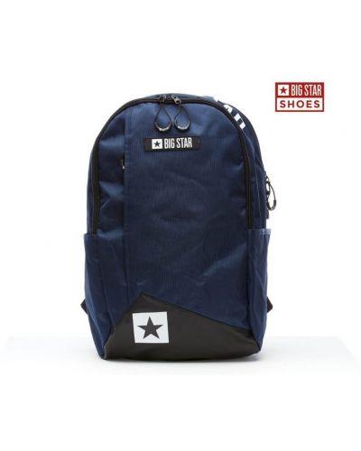 Niebieski sport plecak miejski materiałowy Kesi