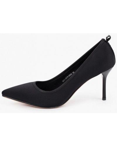 Текстильные черные туфли-лодочки Lolli L Polli