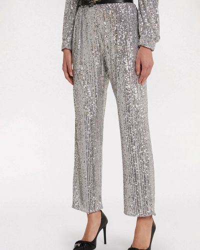Серебряные классические брюки Patrizia Pepe