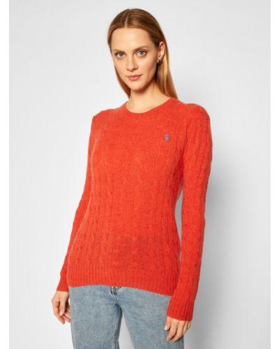 Prosto pomarańczowy kaszmir sweter Polo Ralph Lauren