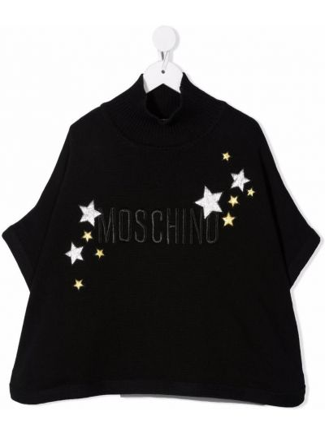Narzutka wełniana - czarna Moschino Kids