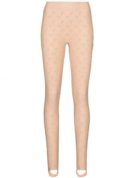 Beżowe legginsy z printem Marine Serre