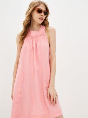 Прямое розовое платье А-силуэта United Colors Of Benetton