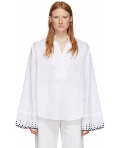 Блузка с длинным рукавом с воротником-стойкой с кокеткой See By Chloe