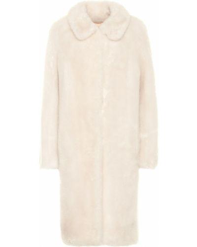 Шерстяное белое пальто Yves Salomon Meteo