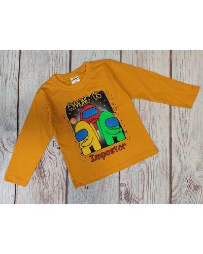 Оранжевый хлопковый свитшот Favo