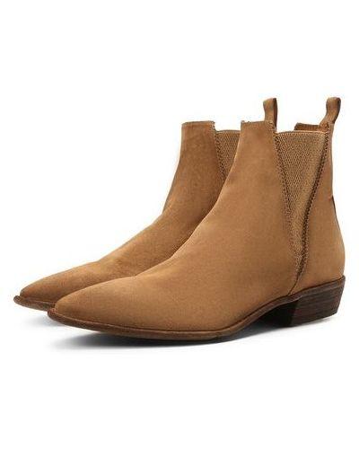 Коричневые кожаные ботинки с подкладкой Lemargo
