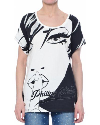 Хлопковая футболка - белая Philipp Plein