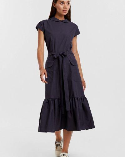 Платье миди весеннее фиолетовый Sefer