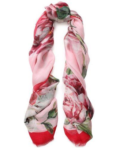 Шарф с цветочным принтом шелковый Dolce & Gabbana