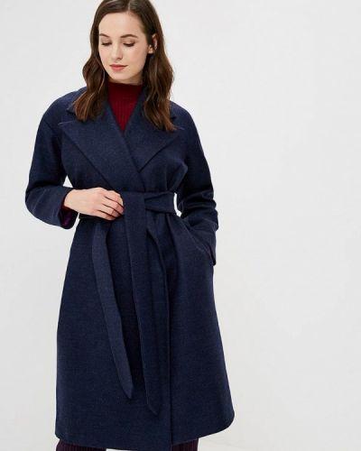 Синее пальто с капюшоном Pepen