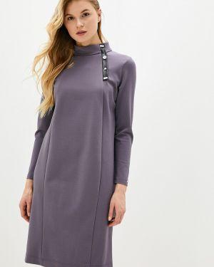 Платье серое прямое Helmidge