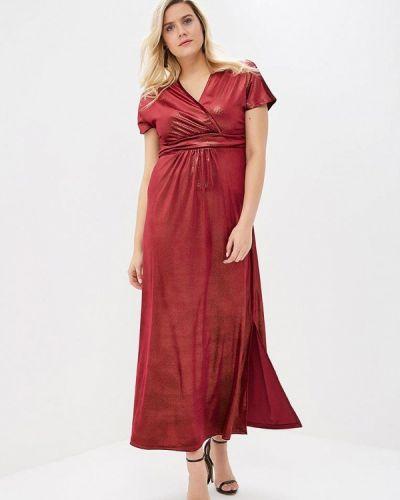 Вечернее платье осеннее красный Sparada