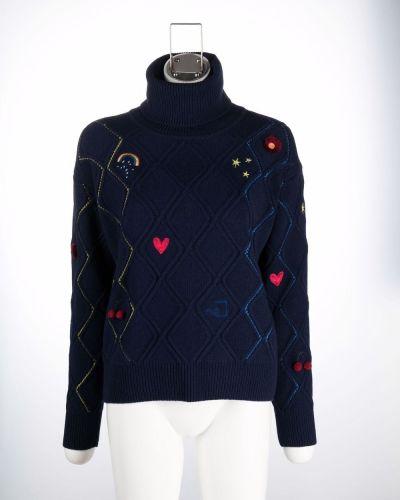 Синий свитер с вышивкой Ps Paul Smith