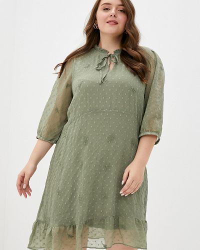 Повседневное зеленое платье Junarose