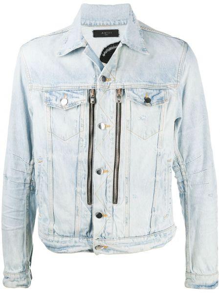 Джинсовая куртка на молнии - синяя Amiri