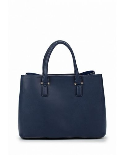 Синяя кожаный сумка Zarina