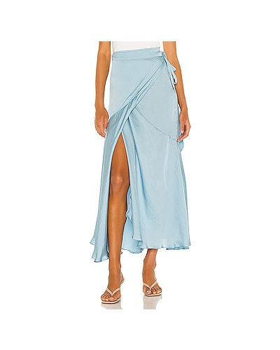 Сатиновая юбка макси с запахом Free People