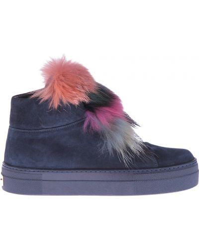 Кожаные ботинки осенние замшевые Mara